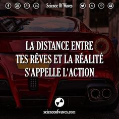 La distance entre tes rêves et la réalité s'appelle l'action - Tap the link now to Learn how I made it to 1 million in sales in 5 months with e-commerce! I'll give you the 3 advertising phases I did to make it for FR The Words, Cool Words, Best Quotes, Life Quotes, Motivational Quotes, Inspirational Quotes, Burn Out, Quote Citation, Lema