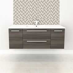"""Cutler Kitchen & Bath FV ARIA48Silhouette Collection 48"""" Wall Hung Vanity with Top - Fixture Universe"""