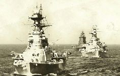 HMS Hood, Repulse and Nelson in 1936...very old vintage photograph.