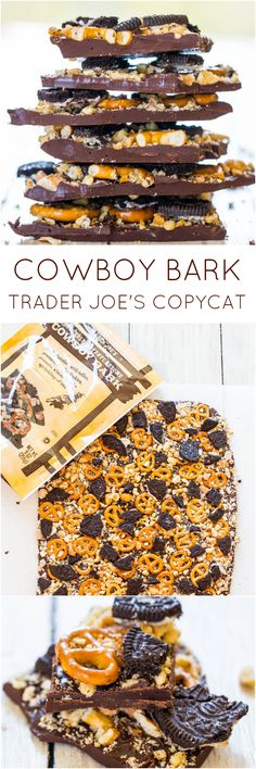 Bark: Trader Joe's Copycat Recipe - Yum Yum ! - Cowboy Bark: Trader Joe's Copycat Recipe – Yum Yum ! -Cowboy Bark: Trader Joe's Copycat Recipe - Yum Yum ! - Cowboy Bark: Trader Joe's Copycat Recipe – Yum Yum ! Köstliche Desserts, Delicious Desserts, Dessert Recipes, Yummy Food, Plated Desserts, Trader Joe's, Yummy Treats, Sweet Treats, Rodjendanske Torte
