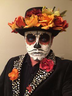 Halloween Makeup Sugar Skull, Sugar Skull Costume, Sugar Skull Makeup, Halloween Makeup Looks, Halloween Costumes For Kids, Scary Halloween, Halloween Make Up, Sugar Skull Face Paint, Sugar Skull Art
