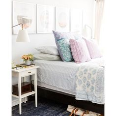 Cannot get enough of this lovely bedroom by Jacquelyn Clark @larkandlinen. The light streaming in is just perfect, too. What do you think? | Via Instagram: @scoutandnimble