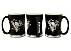 Pittsburgh Penguins NHL Coffee Mug Sculpted Single Pittsburgh Penguins Gear, Team Logo Design, Ceramic Materials, Sculpting, Coffee Mugs, Shopping, Bright, Products, Colorful