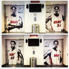 Great elevator wrap for the Miami Heat by Metro Wrapz!