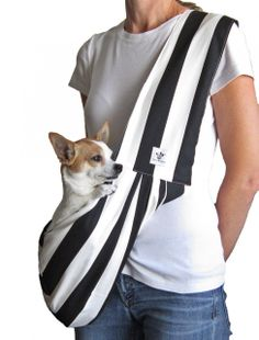 Paws4Peace,LLC Store - Sling-Black and White Striped, $66.00 (http://store.paws4peace.com/sling-black-and-white-striped/)