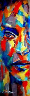 "Saatchi+Online+Artist+Helena+Wierzbicki;+Painting,+""""Self+acceptance""""+#art"