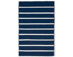 Pinstripe Navy Indoor-Outdoor Rug
