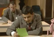 "When you get an outrageous bill. | Community Post: 26 ""Mr. Bean"" Reaction GIFs For Everyday Situations"