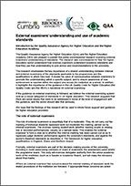 HEA/ Brookes research on external examiners