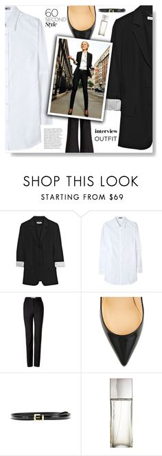 """""""60-Second Style: Job Interview"""" by jleigh329 ❤ liked on Polyvore featuring See by Chloé, Acne Studios, Maison Margiela, Christian Louboutin, Miu Miu and Calvin Klein"""