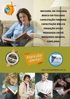 Você sabe a diferença da teologia estudada em um Seminário e uma Faculdade? Confira em nosso site http://www.seminariobetel.com.br/duvidas.html (mercado x vocação)