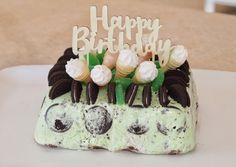 Homemade Choc Mint and Oreo Ice Cream Cake that is super easy to make and even easier to eat.