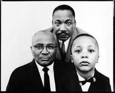 Martin Luther King Sr., Jr, and III. by Avedon.