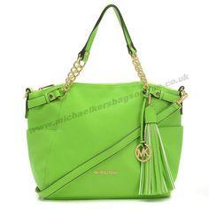 Michael Kors Green Large Devon Shoulder Bag