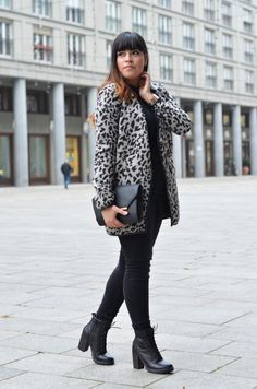 #outfit #autumn #winter #style #leo #animalprint #boots #grey #streetstyle #look #inpiration #fashion #fashionblogger #berlin