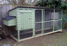 Chickens…chickens…chickens… this is a cute coop, simple and FUNCTIONAL love the big door!!