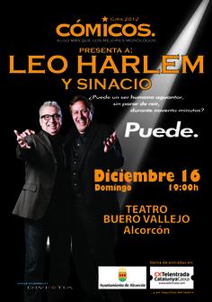 Cartel de Leo Harlem y Sinacio de la gira 2012