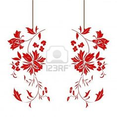Chinese red paper-cut. Stock Photo