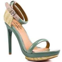 Women's Shoe Ritchie - Sage Natural by Mark and James Mark and James,  light teal and natural beige and browns for summer cool chic look heels