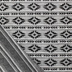 Gray Navajo Jaquard Stripe Two Sided Cotton Jersey Knit Fabric :: $6.50