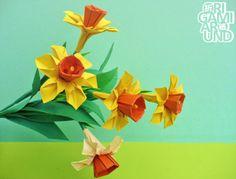 My final origami daffodil design.