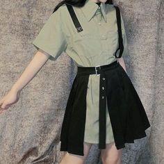 Korean Girl Fashion, Korean Fashion Trends, Ulzzang Fashion, Kpop Outfits, Edgy Outfits, Cute Casual Outfits, Winter Fashion Outfits, Cute Fashion, Mode Kpop