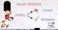 False Friends by CLASINGELTS.com English Uk, English Tips, English Words, English Grammar, False Friends, Learning English, Idioms, Languages, Vocabulary