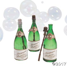 """Send the newlyweds off in a shower of shimmering bubbles! These party favor blowing bubbles are a fantastic way to have some """"bubbly"""" at your ..."""