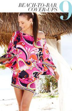 Fun beach cover up Beach Attire, Beach Outfits, Summer Outfits, Beach Stuff, Woman Dresses, Splish Splash, Kaftans, Dress Hats, Summer Trends