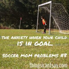 especially during a PK shoot out! I don't know what is worse, being the goalie or the parent! My mom always freaks out! Soccer Girl Probs, Girls Soccer, Soccer Problems, Girl Problems, Soccer Goalie, Nike Soccer, Soccer Cleats, Soccer Season, Soccer Practice