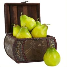 Nearly Natural Faux Pear (Set of 6) ($38) ❤ liked on Polyvore featuring home, home decor, floral decor, fake flowers, fake bouquet, harvest home decor, fake silk flowers and artificial flowers