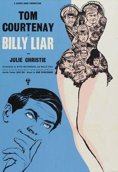 Billy Liar (1963) Stars: Tom Courtenay, Julie Christie, Wilfred Pickles, Mona Washbourne, Ethel Griffies, Finlay Currie ~ Director: John Schlesinger  (Nominated for 6 BAFTA Film Awards)