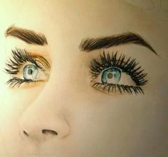 53 Ideas Drawing Faces Realistic Colored Pencils Beautiful For 2019 Amazing Drawings, Beautiful Drawings, Cool Drawings, Amazing Art, Drawing Faces, Beautiful Eyes, Eyelashes Drawing, Drawing Hair, Pencil Art