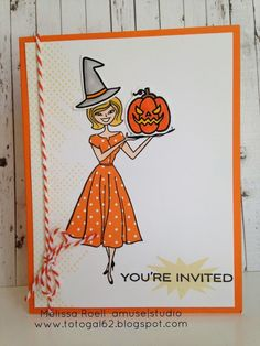 Amuse Studio Give Thanks Girl stamp set turned into a Classy Witch!
