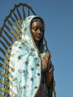 Our Lady Of Guadalupe here in my home town of Santa Fe. So beautiful - no wonder she's a popular statue for visitors.