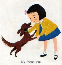 Somebody Hides, Illustrations by Dagmar Wilson, 1963- Pup  via try-whistling-this