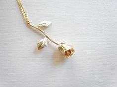 The rose necklace / Little prince's rose / Rose by nesstudio, $22.00