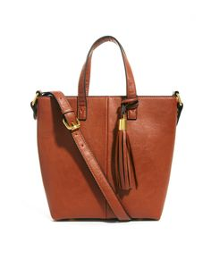 (surprisingly affordable) tassel tote