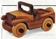 Wooden Jeep Plans - Children's Wooden Toy Plans and Projects | WoodArchivist.com