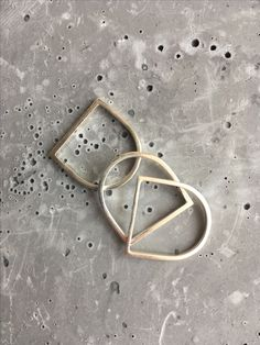 Brutalist inspired silver stacking rings with concrete inspired textures by Adornment Archive