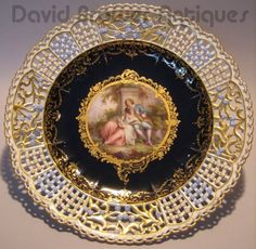 Image Detail for - Meissen reticulated plate with Watteau scene