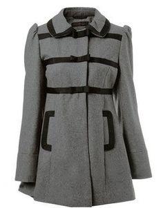 Bow Grey Woolen coat.1