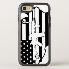American Flag with AR gun otterbox OtterBox Symmetry iPhone SE/8/7 Case #otterbox #cell #phone #case #american #OtterBoxSymmetryiPhoneSE87Case. International shipping. #phonecases #iphonecases Iphone Se, Apple Iphone, Personalized Phone Cases, Gun Cases, Apple Logo, Cell Phone Cases, Protective Cases, American Flag, Holiday Cards