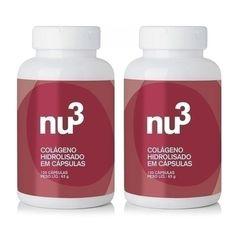 O Colágeno Hidrolisado, da Nu3 Inteligent Food é um suplemento em cápsulas que fornece 2g de proteínas por dose. O colágeno hidrolisado possui melhor absorção no organismo, auxiliando na reposição de colágeno, proteína responsável pela firmeza e elasticidade da pele.