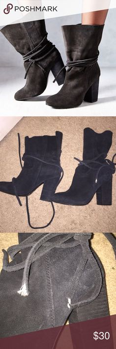 Urban Outfitters Slouch Boot In goos condition, slight tears on the ties of the boots. Urban Outfitters Shoes Heeled Boots
