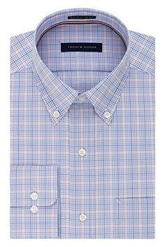 Tommy Hilfiger Men's Non Iron Regular Fit Plaid Buttondown Collar Dress Shirt Review