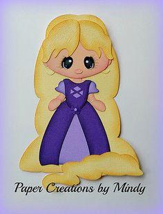 Craftecafe Mindy Princesa Rapunzel prefabricados Paper Piecing Para Scrapbook página
