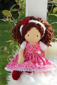Waldorf doll 125 tall doll steiner doll organic dollfabric