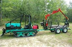Oxtrac Woods Equipment, Logging Equipment, Heavy Equipment, Log Trailer, Utility Trailer, Homemade Tractor, Lawn Mower Tractor, Small Tractors, Classic Tractor