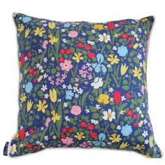 Paule Marrot Beatrice Bleu Pillow : Biscuit Home